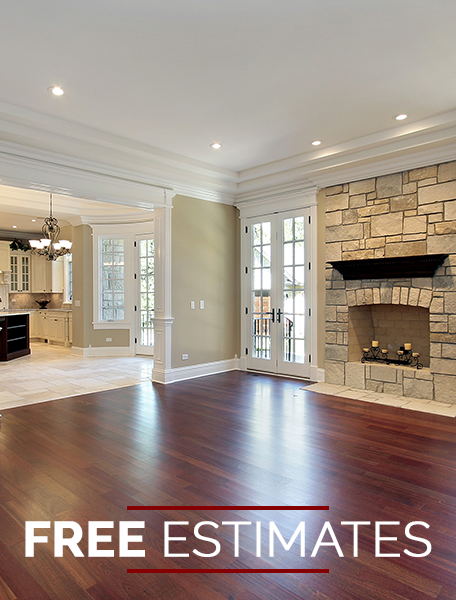 Living Room Hardwood Flooring; Free Estimates in Durham, NC